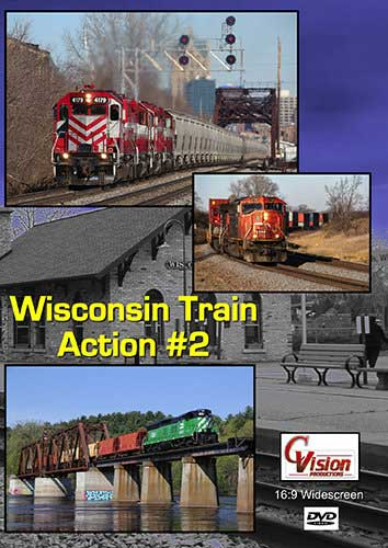 Wisconsin Central Train Action Volume 2 DVD C Vision Productions WTA2DVD