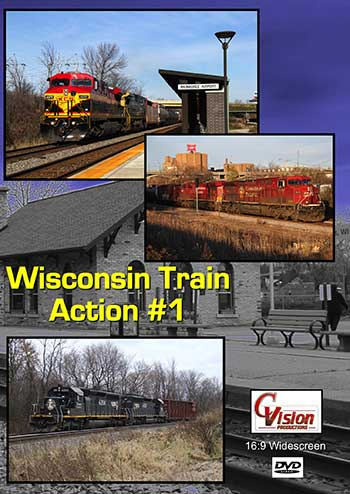 Wisconsin Train Action Volume 1 DVD C Vision Productions WTA1DVD