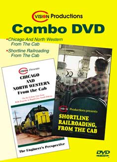 C&NW From the Cab and Shortline From the Cab - Combo DVD Train Video C Vision Productions CABDVD