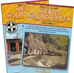 Sierra Shortlines Vols 1 and 2 2-DVD Set Train Video Catenary Video Productions 16-SS