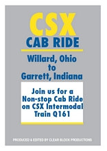 CSX Cab Ride Willard OH to Garrett IN DVD
