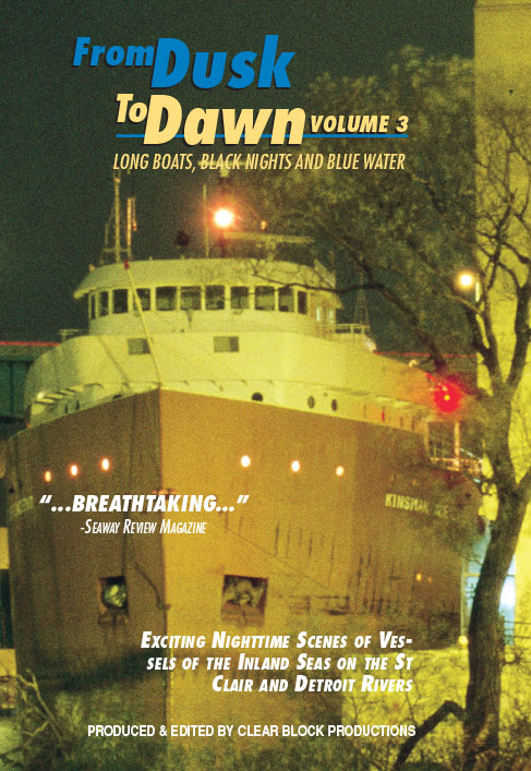 From Dusk to Dawn Vol 3 Long Boats Black Nights and Blue Water DVD Train Video Clear Block Productions DD-3