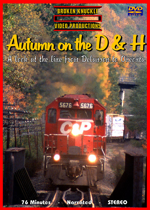 Autumn on the Delaware and Hudson DVD Broken Knuckle Video Productions BKDH-DVD