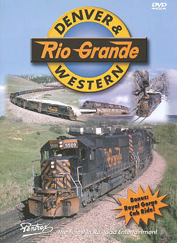 Denver & Rio Grande Western Train Video Pentrex DRGW-DVD 748268004346