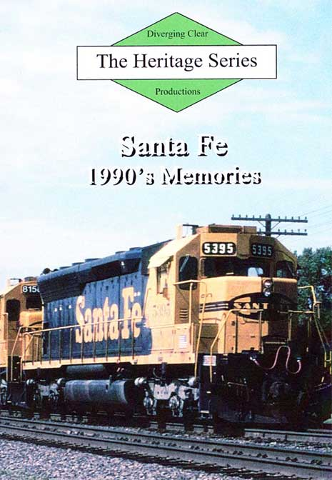 Heritage Series Santa Fe 1990s Memories DVD Diverging Clear Productions DC-SF90M