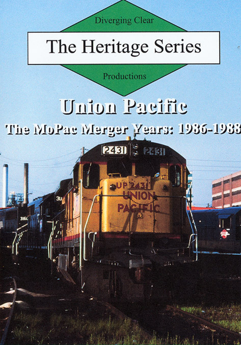 Heritage Series Union Pacific MoPac Merger Years 1986-1988 DVD Train Video Diverging Clear Productions DC-UPMP