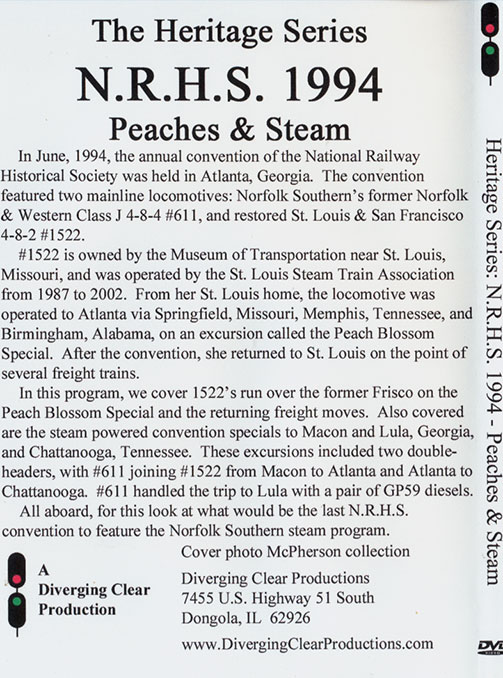 NRHS 1994 Peaches & Steam DVD