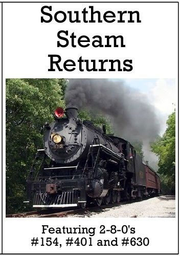 Southern Steam Returns DVD Train Video Diverging Clear Productions DC-SSR