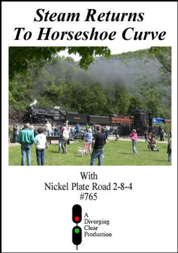 Steam Returns to Horseshoe Curve DVD Diverging Clear Productions DC-SRHC