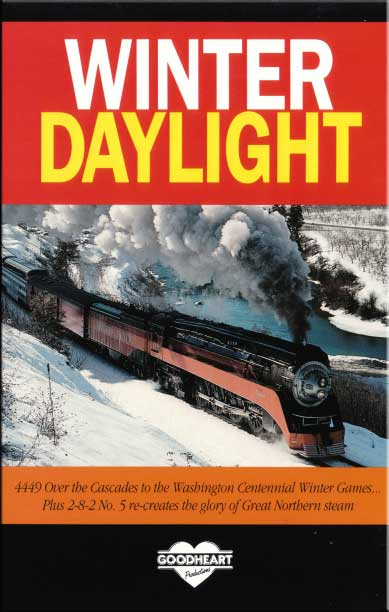Winter Daylight 4449 Over the Cascades DVD Train Video Goodheart Productions 4449-WINTER-DVD
