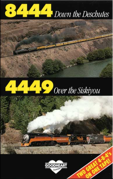 8444 Down The Deschutes 4449 Over The Siskiyou DVD Train Video Goodheart Productions 8444-DESCHUTES-DVD