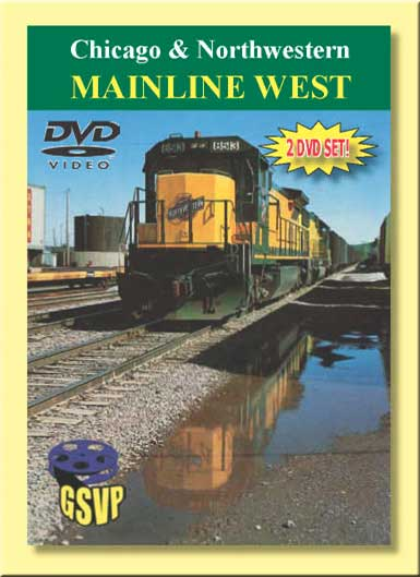 Chicago & Northwestern Mainline West 2 DVD Set Greg Scholl Video Productions CNWMW