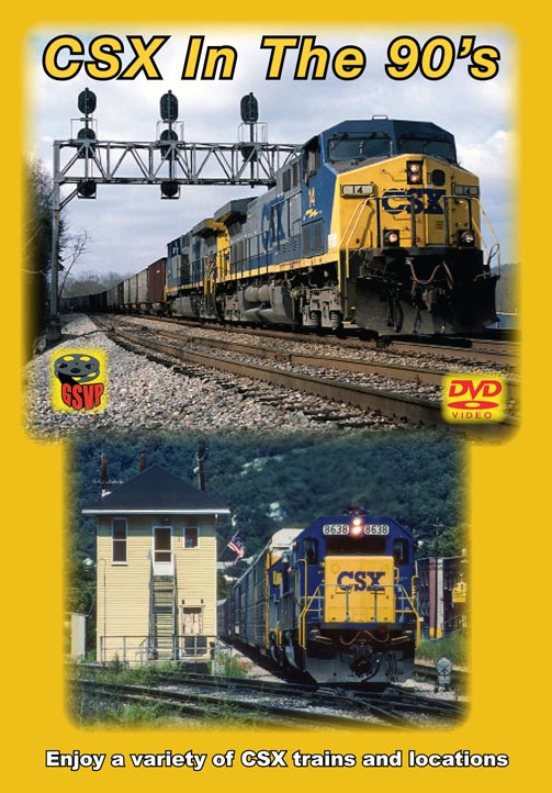CSX in the 90s DVD Train Video Greg Scholl Video Productions GSVP-084 604435008497
