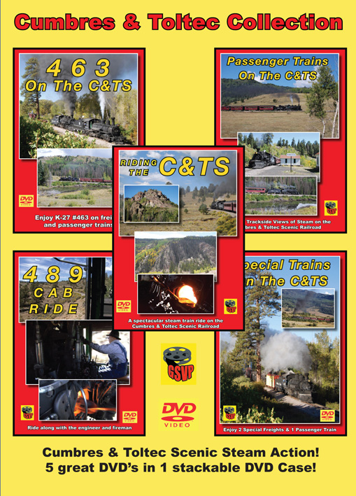 Cumbres & Toltec 5 Disc Collection DVD Greg Scholl Video Productions GSVP-075 604435007599