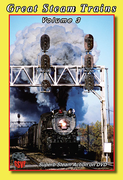 Great Steam Trains Vol 3 DVD Greg Scholl Video Productions GSVP-109 604435000996