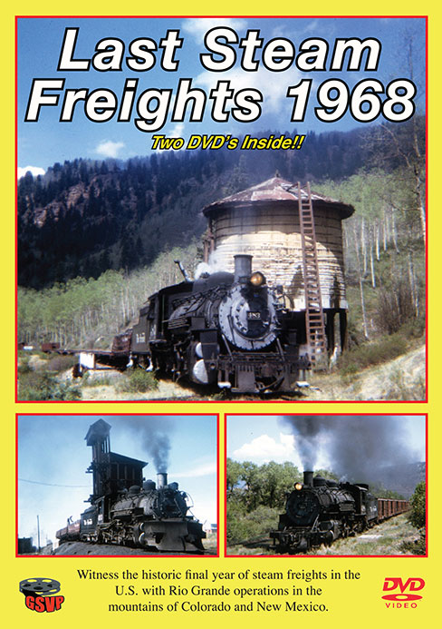 Last Steam Freights 1968 2-DVD Set Greg Scholl Video Productions GSVP-112 604435001290