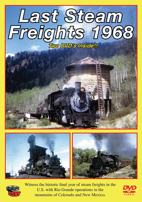 Last Steam Freights 1968 2-DVD Set Greg Scholl Video Productions GSVP-112 604435001290