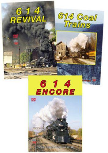 614 C&O 3 DVD Collection - Encore - Coal Trains & Revival Train Video Greg Scholl Video Productions GSVP-614SET