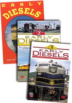 Early Diesels Complete 3 DVD Package Set Greg Scholl Video Productions GSVP-ERDIESET