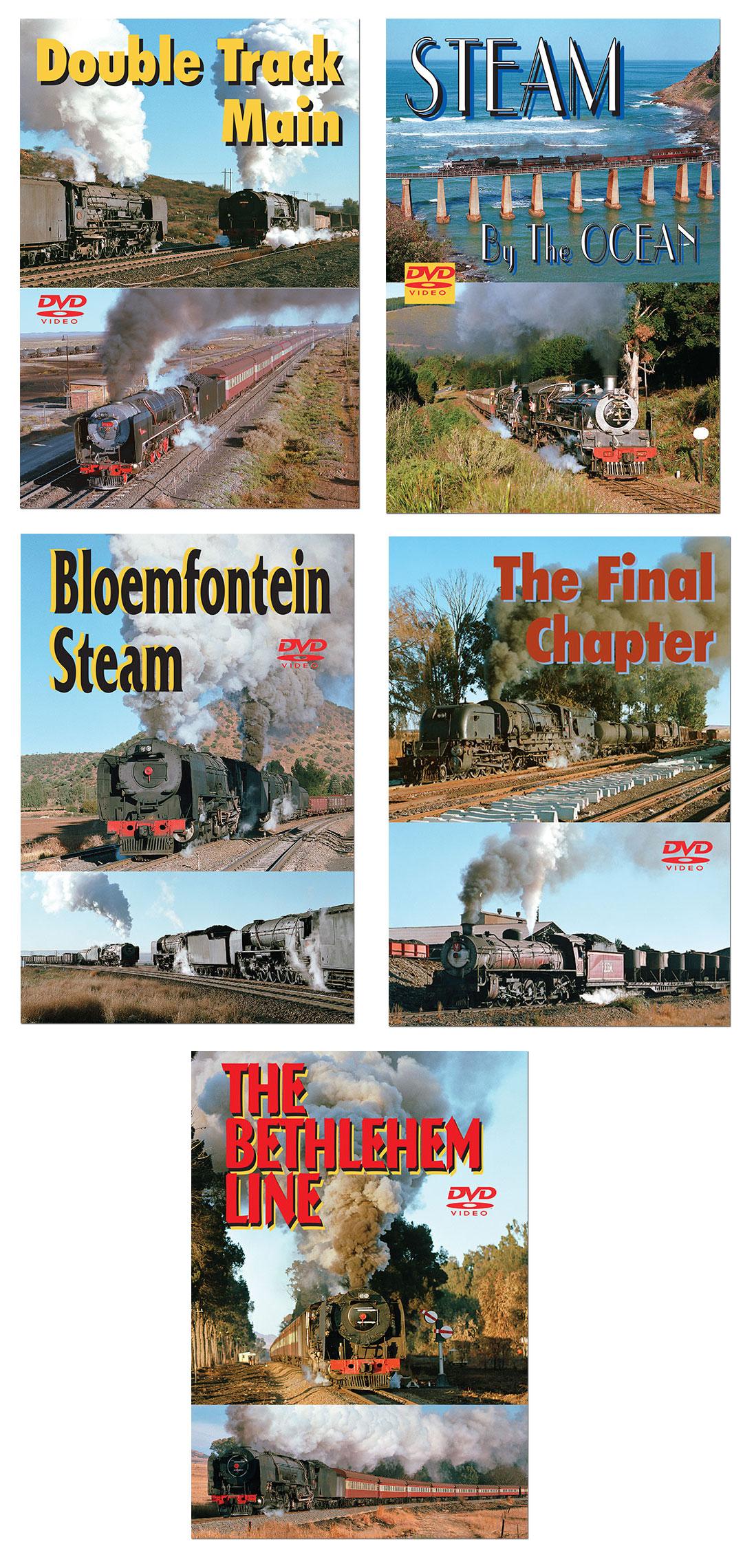 South African Steam 5 DVD Set by Greg Scholl Train Video Greg Scholl Video Productions GSVP-SAFSET