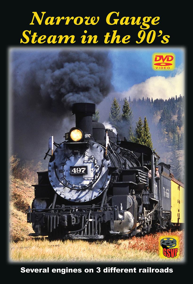 Narrow Gauge Steam in the 90s DVD Greg Scholl Video Productions GSVP-402