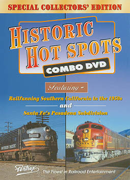 Historic Hot Spots Combo DVD Train Video Pentrex HHS-DVD 748268004162