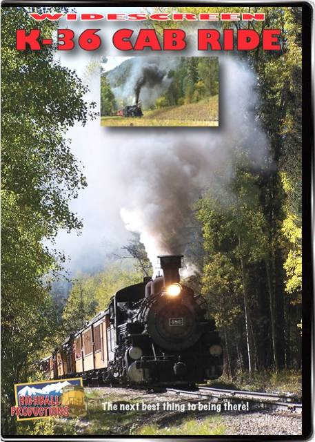 K-36 Cab Ride - Durango & Silverton Narrow Gauge Railroad DVD Highball Productions K36C-DVD