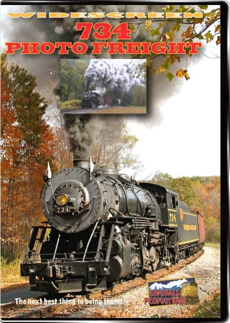 734 Photo Freight - Western Maryland Scenic Railroad DVD Train Video Highball Productions 734W 181729001391