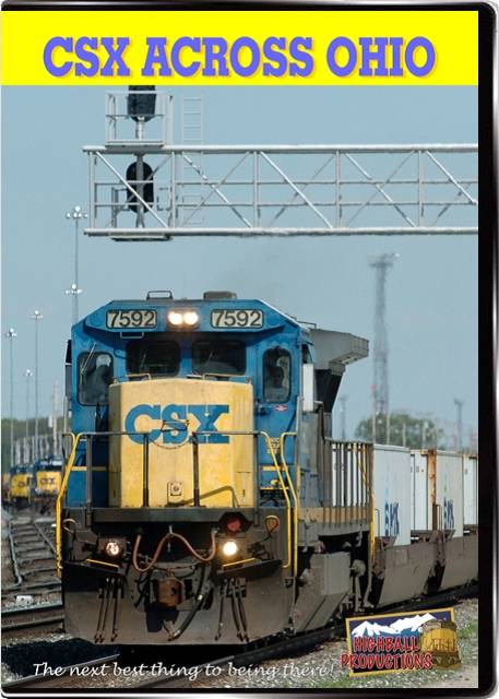 CSX across Ohio DVD Train Video Highball Productions CAOW-DVD