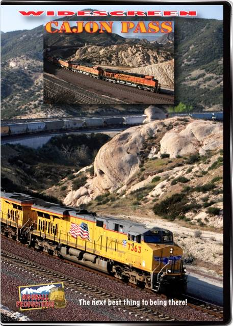 Cajon Pass - BNSF and Union Pacific through the San Bernadino Mountains DVD Train Video Highball Productions CAPAW 181729002084