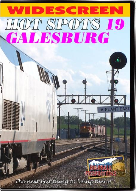 Hot Spots 19 Galesburg Illinois - Former Burlington Northern and Santa Fe lines DVD Train Video Highball Productions HOT19