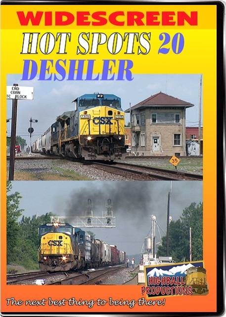 Hot Spots 20 Deshler Ohio - Two CSX heavy mainlines cross here DVD Train Video Highball Productions HOT20