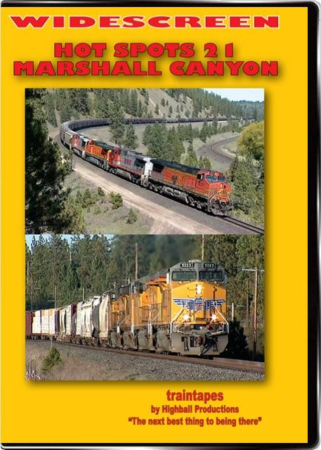 Hot Spots 21 Marshall Canyon Washington - Union Pacific and Canadian Pacific DVD Highball Productions HOT21