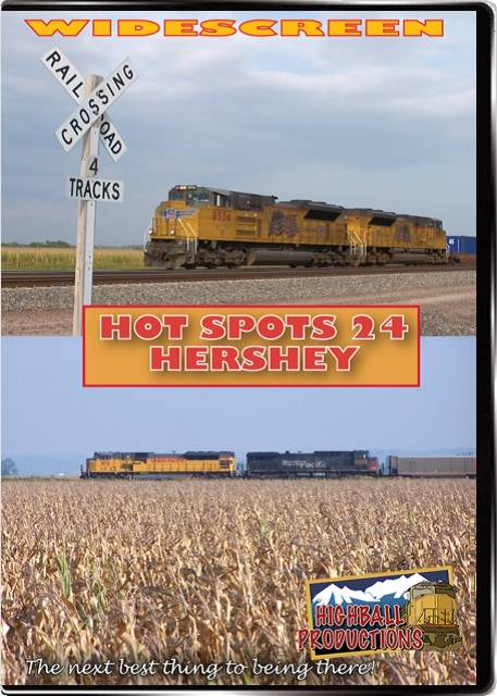 Hot Spots 24 Hershey Nebraska - Four track Union Pacific Mainline DVD Train Video Highball Productions HOT24W