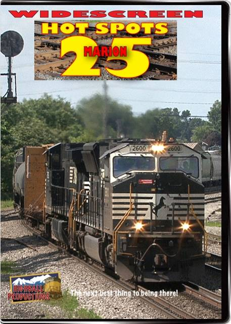 Hot Spots 25 Marion Ohio - CSX and Norfolk Southern across eight diamonds DVD Highball Productions HOT25W