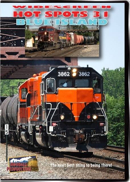 Hot Spots 31 Blue Island Illinois - CSX  Union Pacifc  BNSF  Canadian Pacific  Canadian National  Indiana Harbor Belt  I DVD Highball Productions HOT31W 181729002312