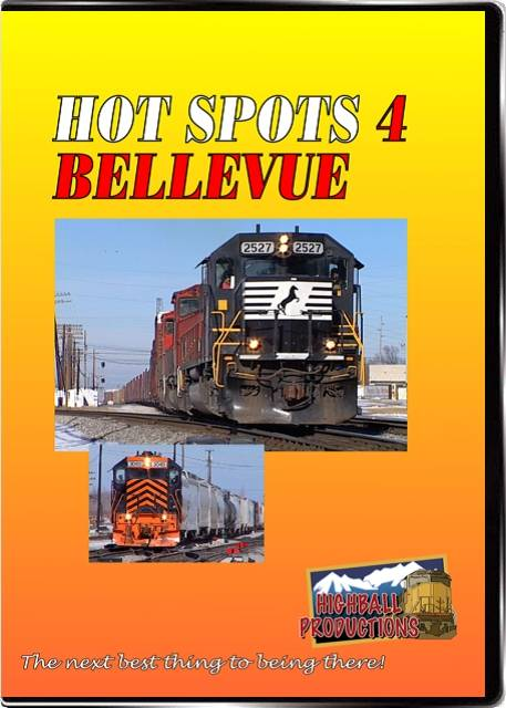 Hot Spots 4 - Bellevue Ohio - A busy yard on Norfolk Southern DVD Train Video Highball Productions HOT4