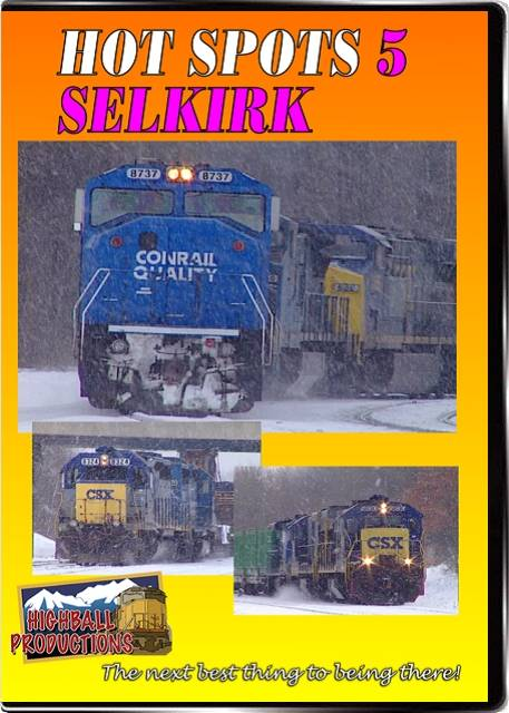 Hot Spots 5 Selkirk New York - Former New York Cenmtral and Penn Central yard  now CSX DVD Train Video Highball Productions HOT5