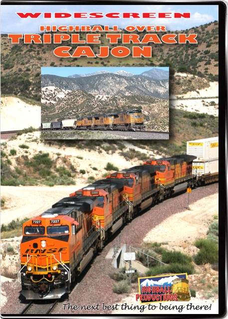 Highball Over Triple Track Cajon - BNSF and Union Pacific in Southern California DVD Train Video Highball Productions HTCW