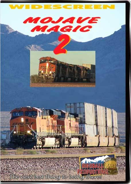 Mojave Magic 2 - The BNSF Needles Sub  2 DVD Set DVD Train Video Highball Productions MM2W-DVD