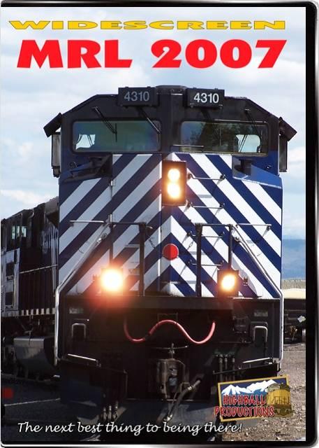 MRL 2007 - Montana Rail Link DVD Train Video Highball Productions MRL7-DVD