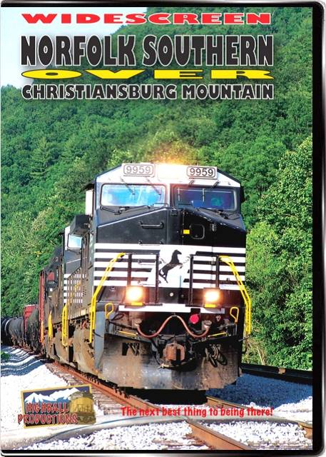 Norfolk Southern over Christiansburg Mountain DVD Train Video Highball Productions NOCMW