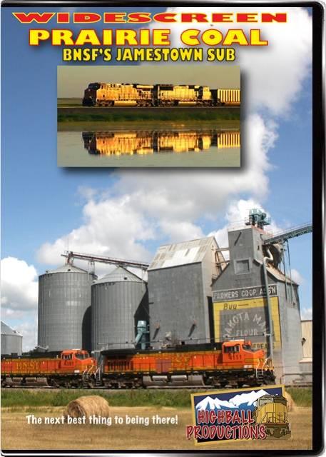 Prairie Coal - The BNSF Jamestown Sub DVD Highball Productions PRAW