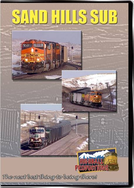 Sand Hills Sub  - BNSF DVD Train Video Highball Productions SANDHBP-DVD