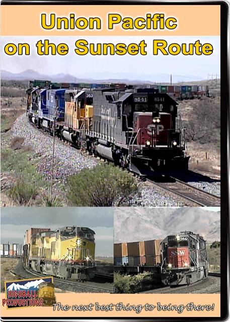 Union Pacific on the Sunset Route DVD Train Video Highball Productions SUNS-DVD