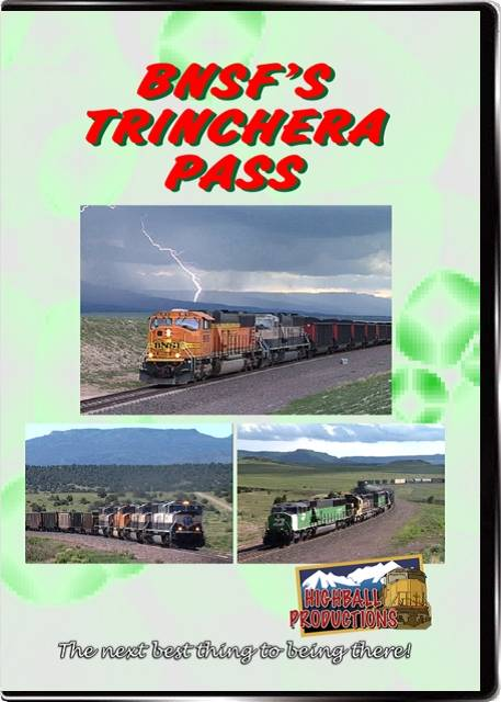 BNSFs Trinchera Pass - The BNSF Twin Peaks Sub DVD Train Video Highball Productions TRIN-DVD