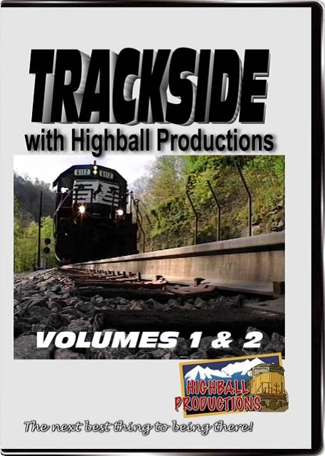 Trackside 1 & 2 - Three hours of trains from across the USA DVD Train Video Highball Productions TSDB