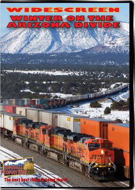 Winter on the Arizona Divide - The BNSF Seligman Sub DVD Train Video Highball Productions WAZW-DVD