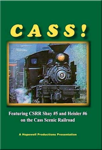 Cass Shay No 5 &  No 6 on the Cass Scenic DVD Train Video Hopewell Productions HV-456