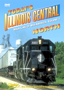 Todays Illinois Central - North Vol 1 DVD Train Video Pentrex ICN-DVD 748268005046